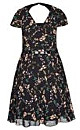 DRESS PRETTY GARDEN - Black - 24 / XXL