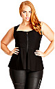 PEPLUM DOMINATRIX - Black - 16 / S