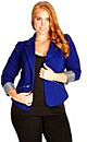 JACKET ZIP TRIM - Royal - 24 / XXL