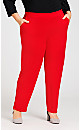 Plus Size Pull On Pant - red