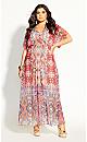 Adisa Mirror Maxi Dress - punch