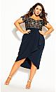 Lace Glamour Dress - navy