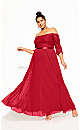 Plus Size Intriguing Maxi Dress - red