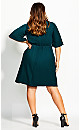Knot Front Dress - teal