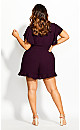 Frill Love Playsuit - mulberry