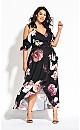 Grandi Flora Maxi Dress - black