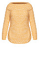 Plus Size Scoop Me Up Jumper - gold