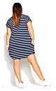 Chilled Stripe Dress - navy