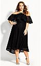 Enticing Lace Dress - black