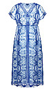 Mykonos Maxi Dress - blue