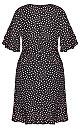 Spotty Flutter Dress - black