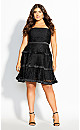 Angelic Lace Dress - black