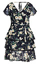 Heirloom Floral Dress - black