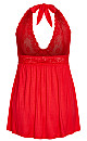 Super Soft & Comfy Halter Chemise - red