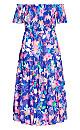 Haven Floral Maxi Dress -  cobalt