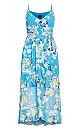 Whisper Floral Maxi Dress - blue