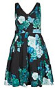 DRESS FRESH HYDRANGE - Green Spearmint - 14 / XS