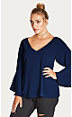 TOP  BELL SLV - Navy - 24 / XXL