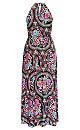 Folklore Printed Maxi Dress
