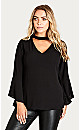 SHIRT SHADOW CHOKER - Black - 24 / XXL