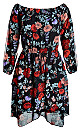 DRESS DARK POPPY - Dark Poppy - 24 / XXL