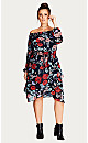 DRESS DARK POPPY - Dark Poppy - 18 / M