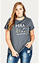 TEE PARADISE - Charcoal - 22 / XL