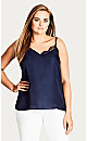TOP LACE SHOW - Navy - 14 / XS