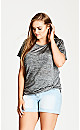 TOP IN KNOTS - Charcoal - 24 / XXL