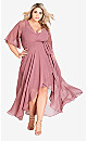 Enthral Me Wrap Dress - Rose