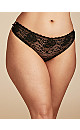 Gemma Lace Hipster with Crisscross Strappy Sides, Black