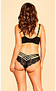 Darcie Strappy Lace Panty - black