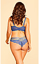 Plus Size Darcie Strappy Lace Panty - indigo