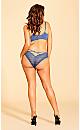 Plus Size Olivia Strappy Panty - indigo