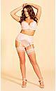Plus Size Cosette Garter Belt - blush