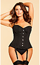 Isabelle Steel Boned Corset - Black