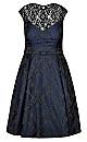 Ornate Brocade Fit & Flare Dress