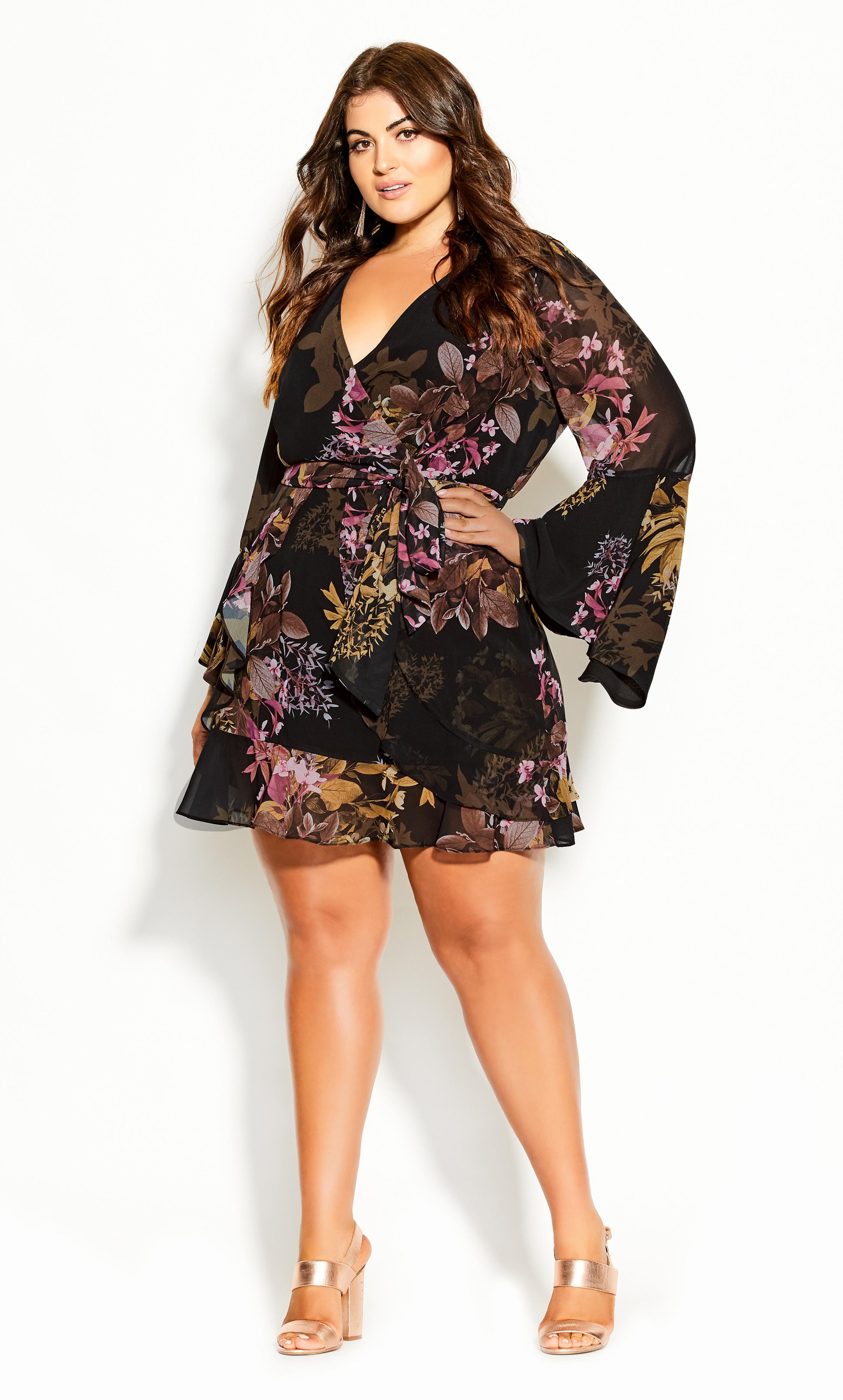 CASTALUNA LADIES FLORAL PRINTED DRESS BLACK SIZE 20 NEW ref 376