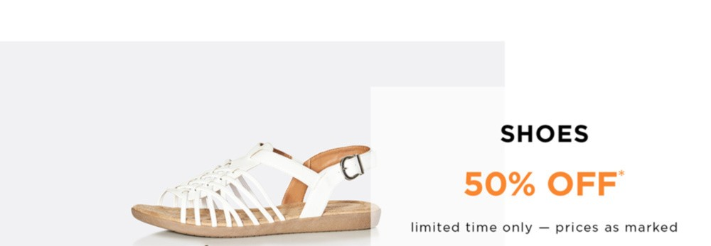 All Shoes 50% Off* - Limited Time Only - Prices As Marked - Shop Now