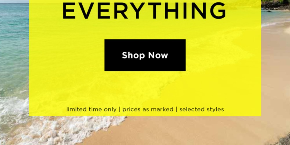 Summer Sale 60% Off Everything - Shop Now