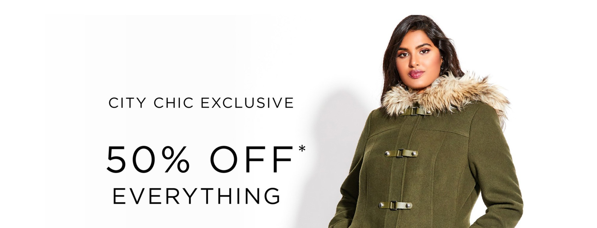 CITY CHIC EXCLUSIVE - 50% OFF EVERYTHING* - Condition Apply, See Terms for Details - SHOP NOW