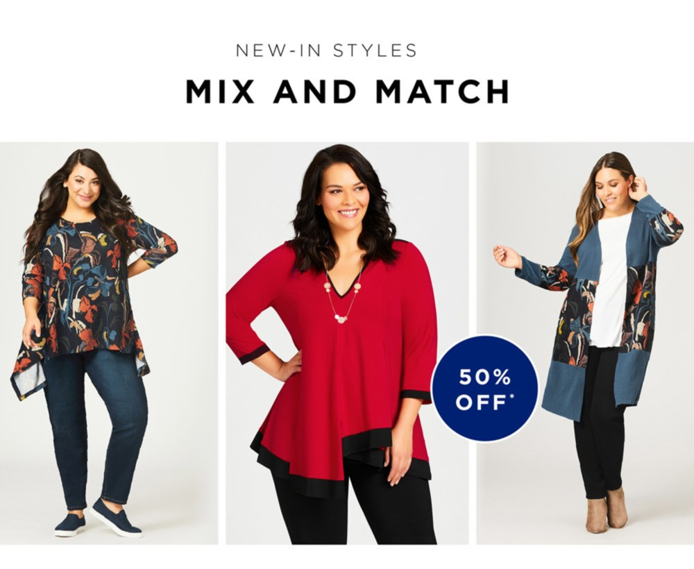 NEW IN STYLES MIX AND MATCH - Explore Mixed Media blouses, flirt with ruffles or make a statement in strong, eye-catching hues - SHOP NOW