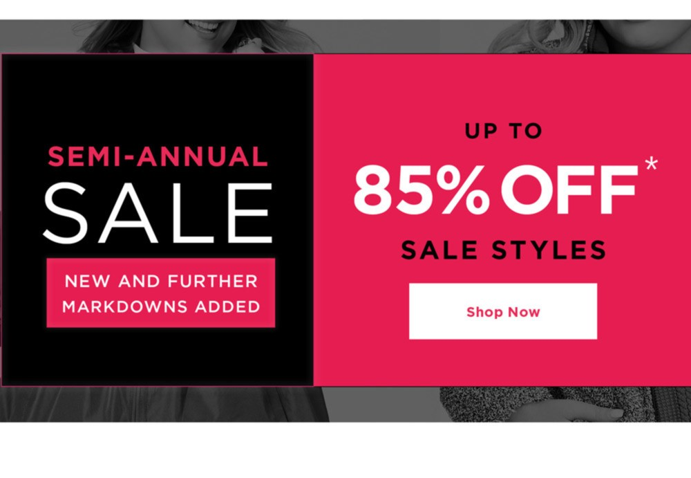 Semi-Annual Sale - New And Further Markdowns Added - UP TO 85% OFF SALE STYLES - SHOP NOW