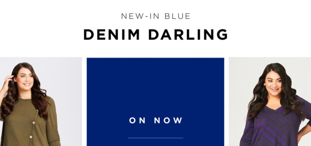 NEW-IN BLUE - DENIM DARLING - ON NOW $19.99 JEANS - SHOP NOW