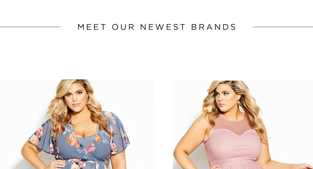 MEET OUR NEWEST BRANDS - CITY CHIC - SHOP NOW